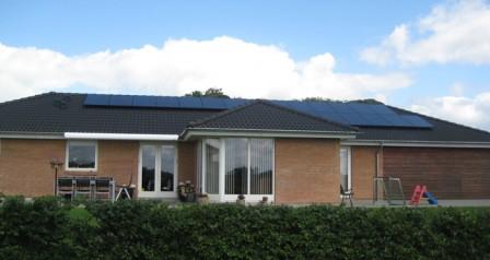5 kW solcelleanlæg Bække