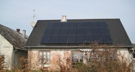 6 kW solcelleanlæg Føvling