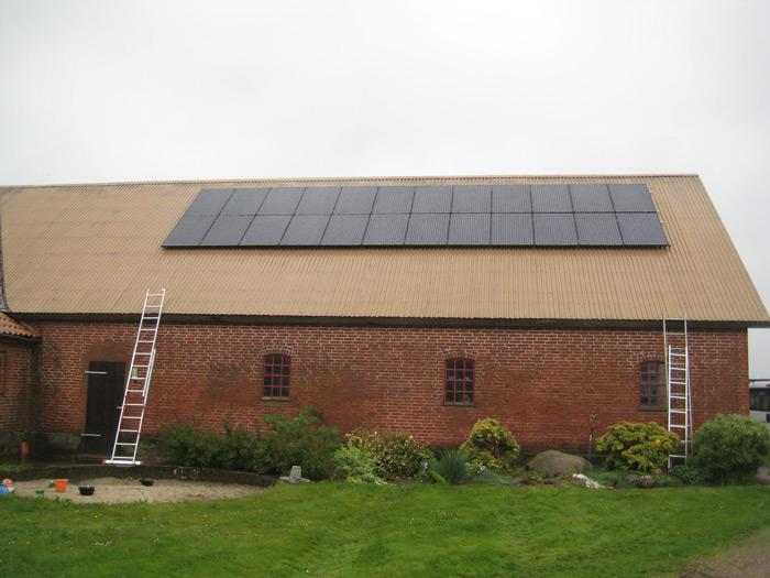 6 kW solcelleanlæg Glejbjerg