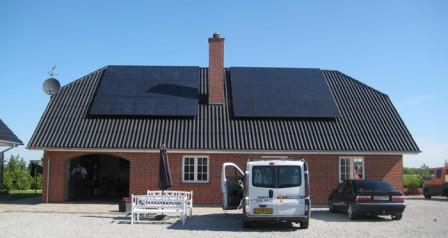 7,5 kW solcelleanlæg Holsted