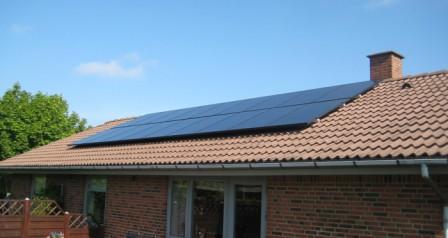 4,5 kW solcelleanlæg Brørup