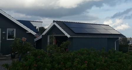 3,5 kW solcelleanlæg Sjølund