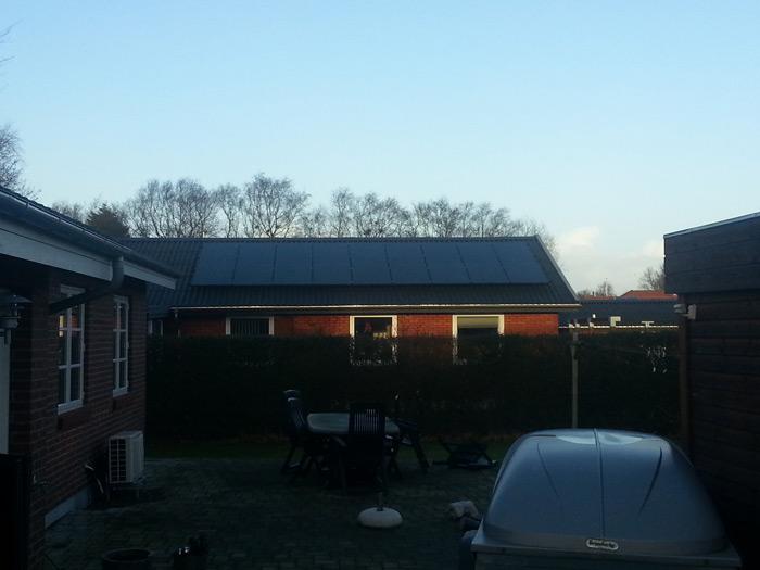 4,5 kW solcelleanlæg Bramming
