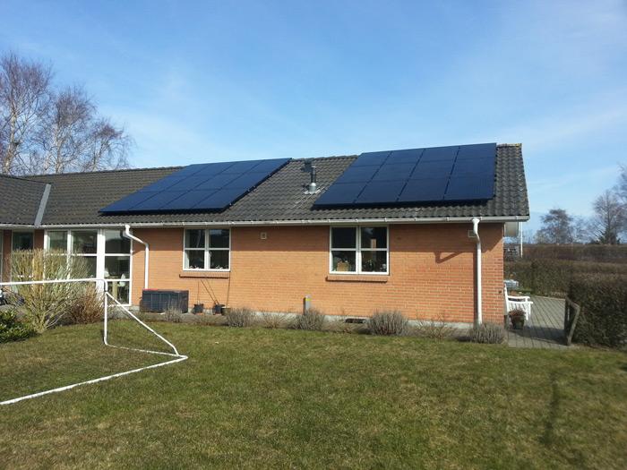 6 kW solcelleanlæg Hejls