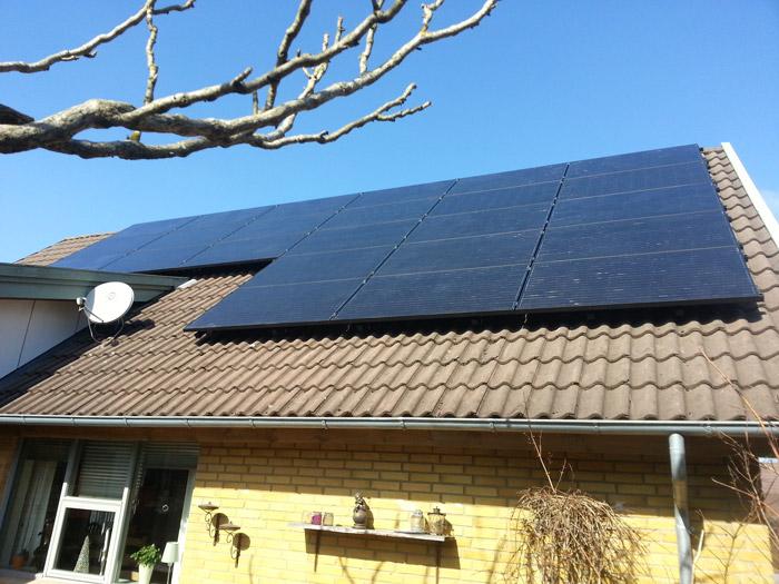 6 kW solcelleanlæg Esbjerg Ø