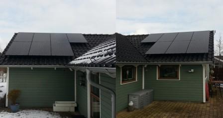 3,5 kW solcelleanlæg Hemmet